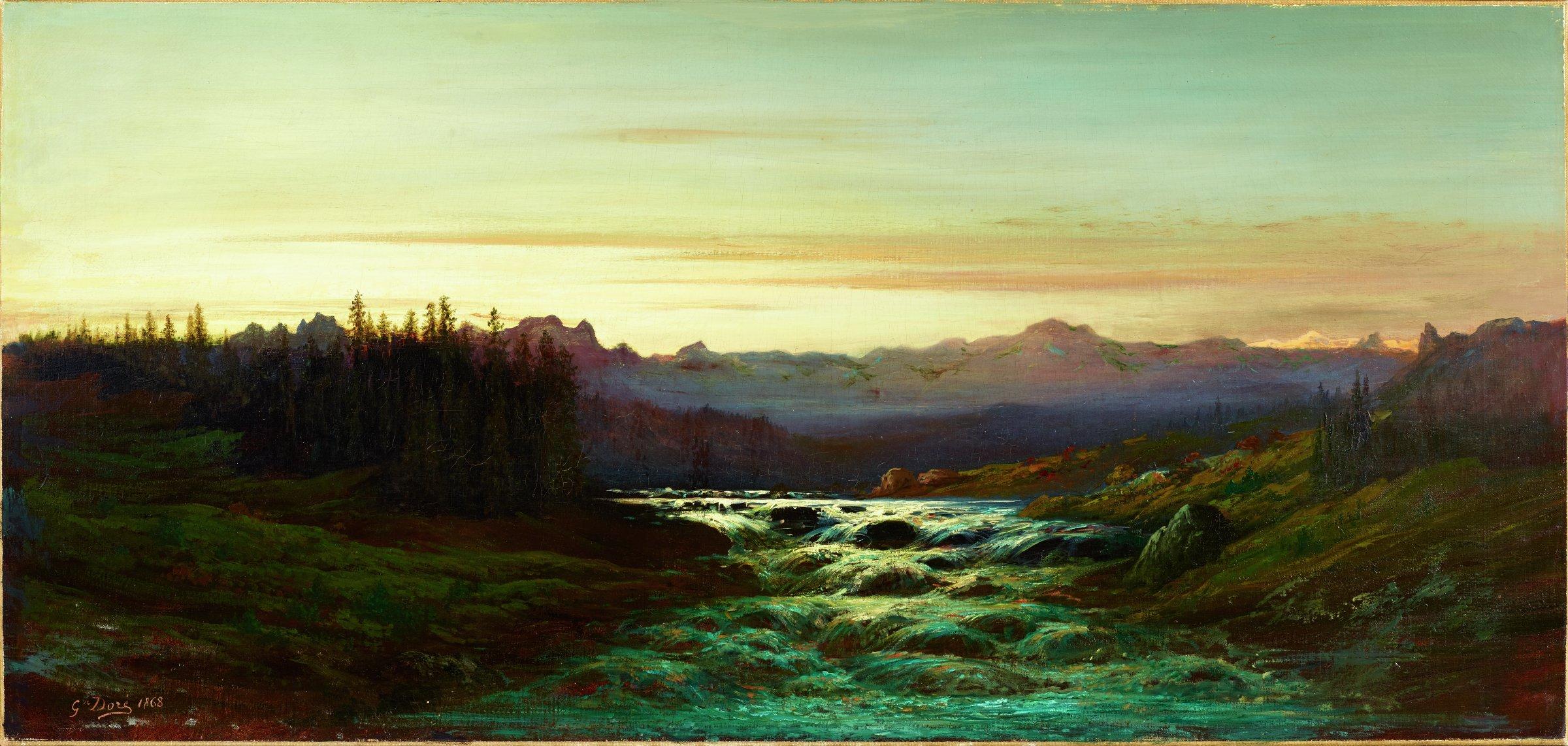 Paysage de Montagnes (Mountain Landscape), Gustave Doré, oil on canvas
