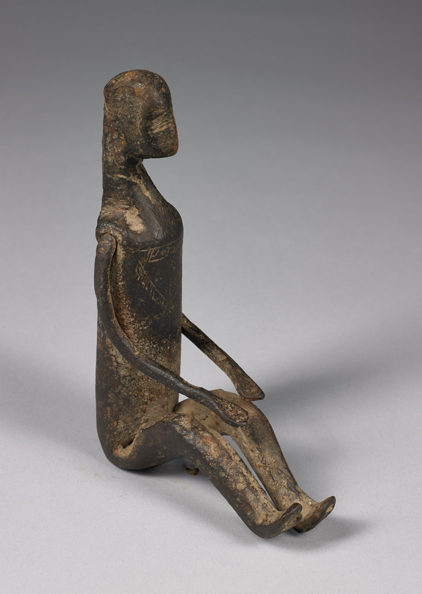 Seated Figure, Bamana people, Mali, African, iron