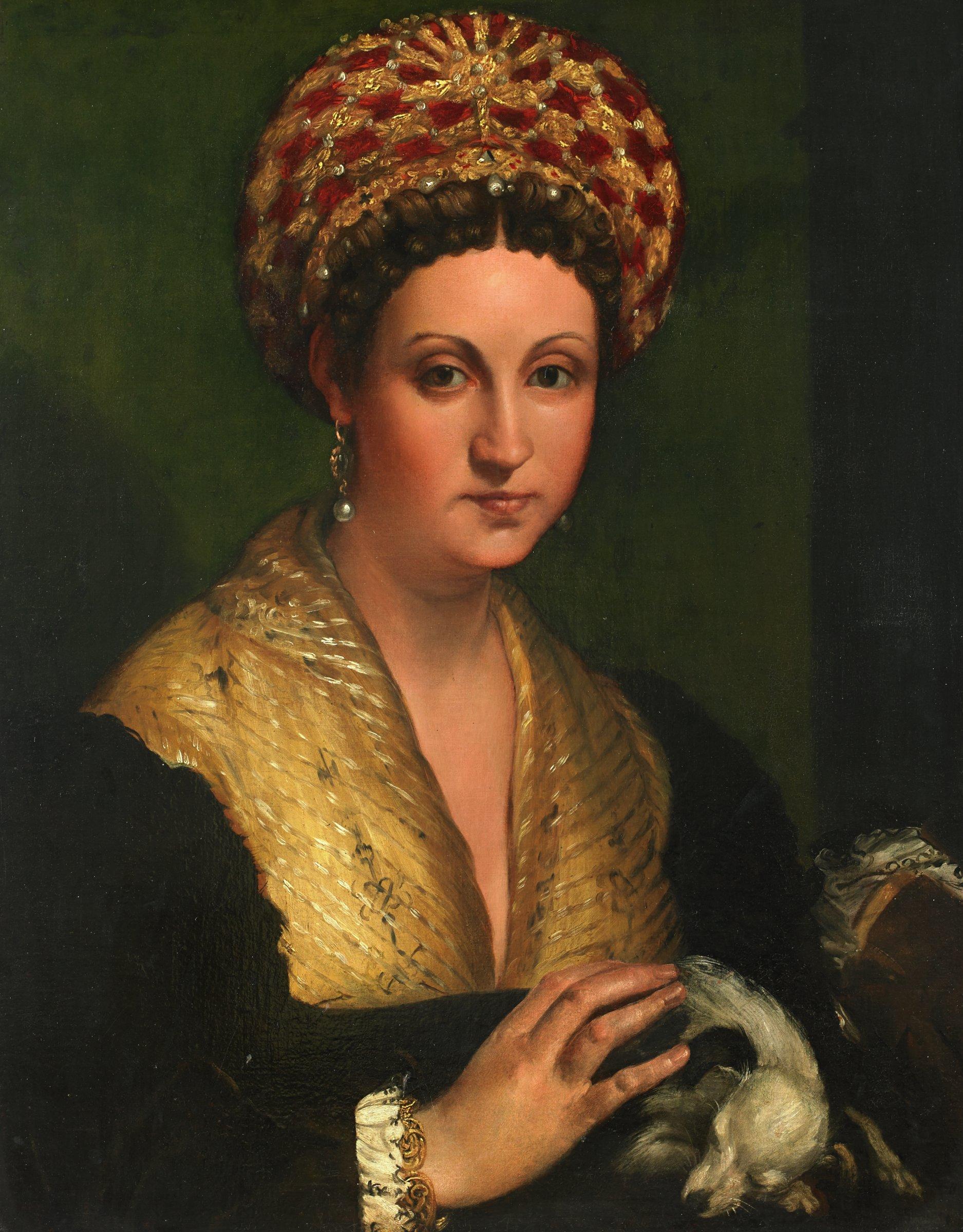 Portrait of a Lady, Callisto Piazza da Lodi, oil on panel