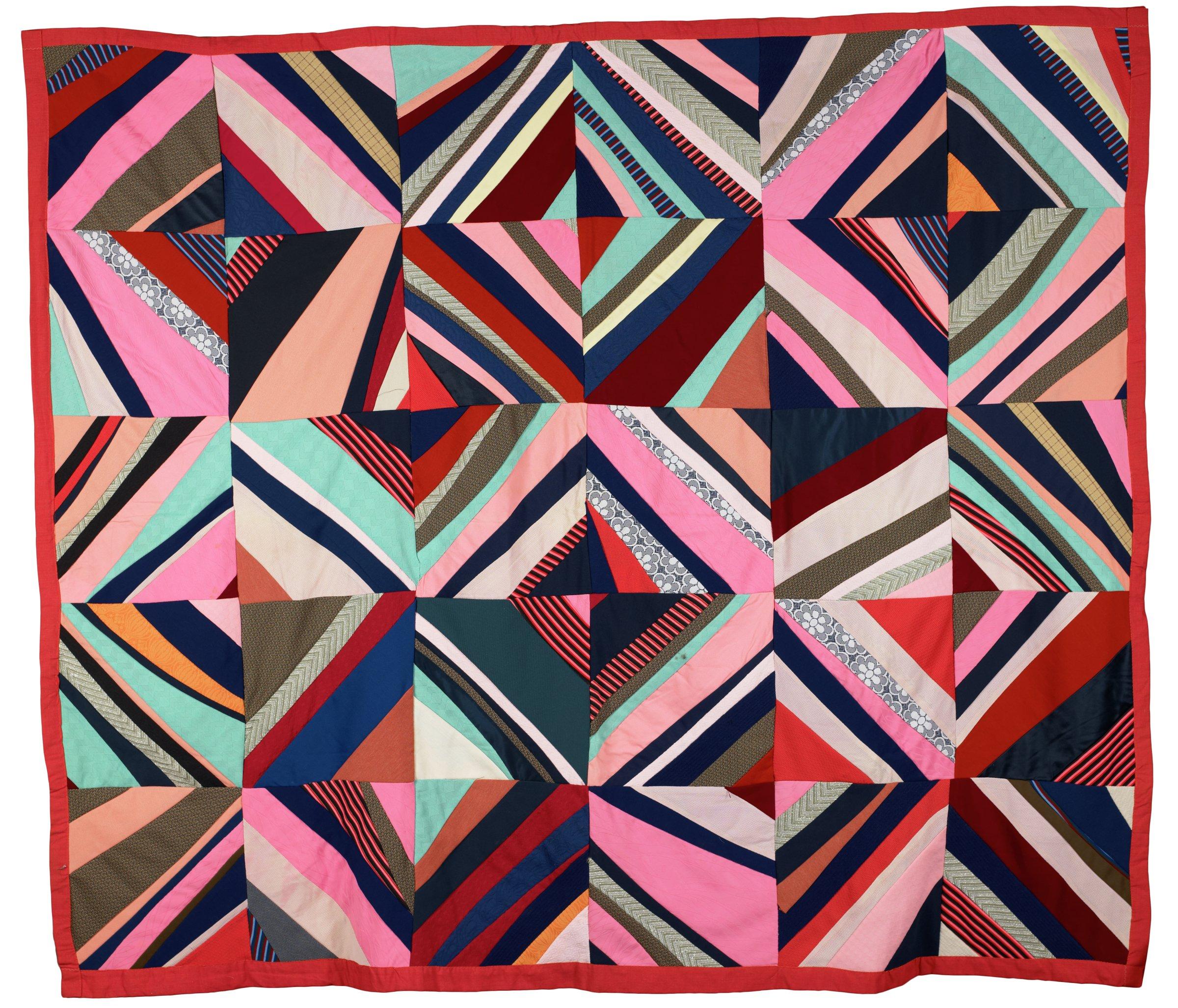 String quilt. All machine-stitched