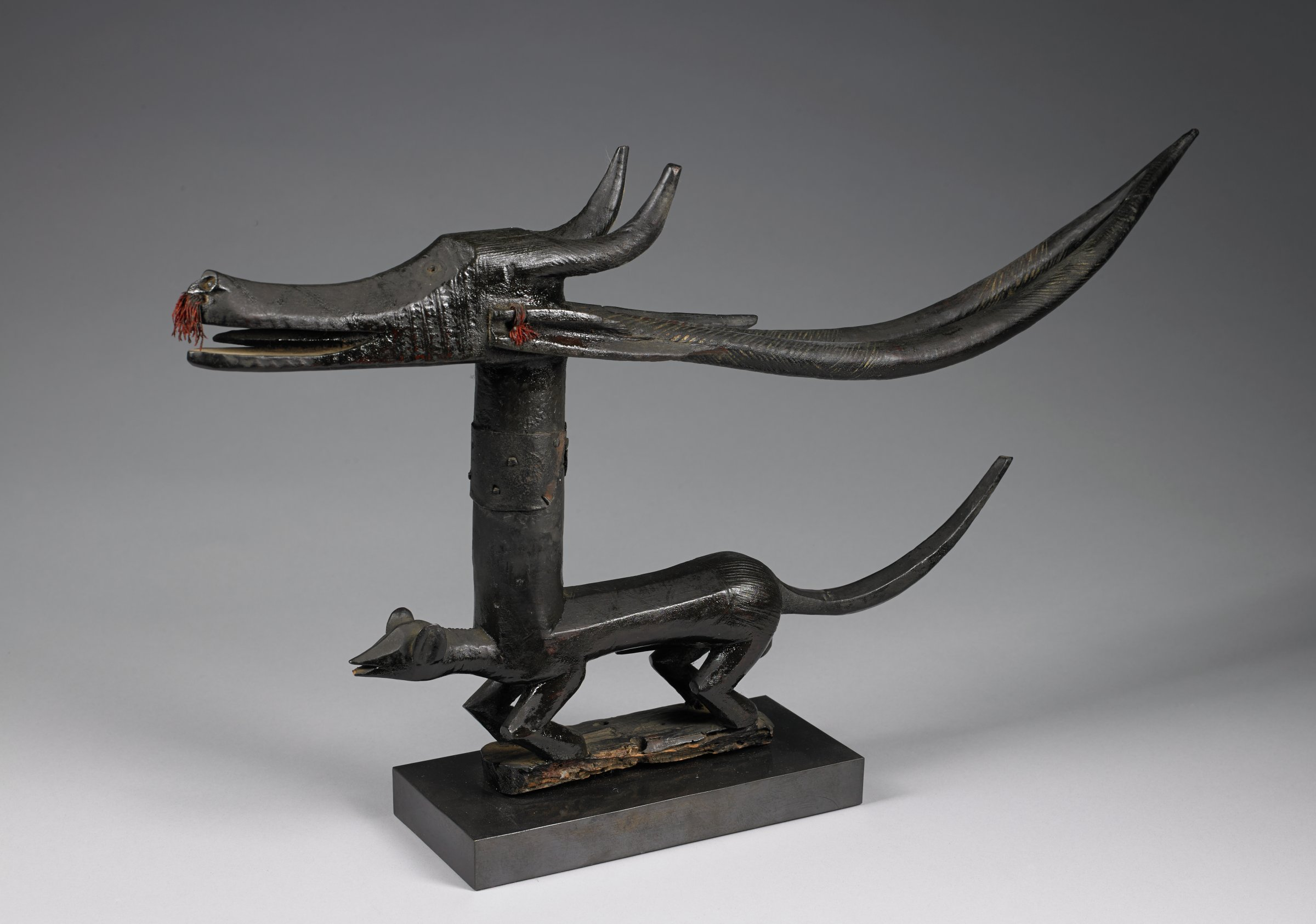 Antelope Headdress (Chi Wara), Bamana people, Mali, African, wood, metal, string