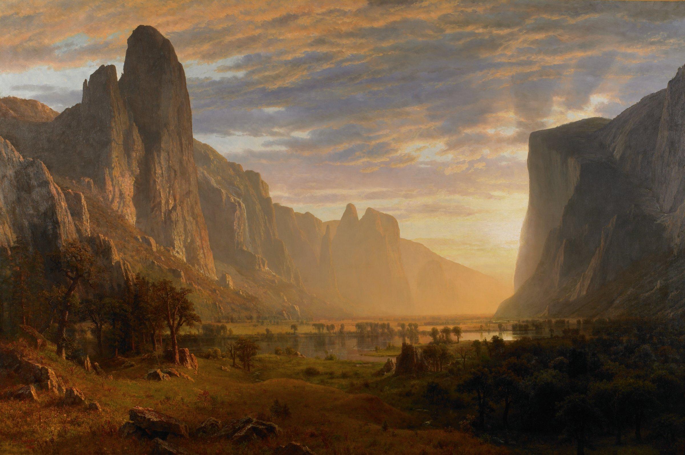 Looking Down Yosemite Valley, California, Albert Bierstadt, oil on canvas