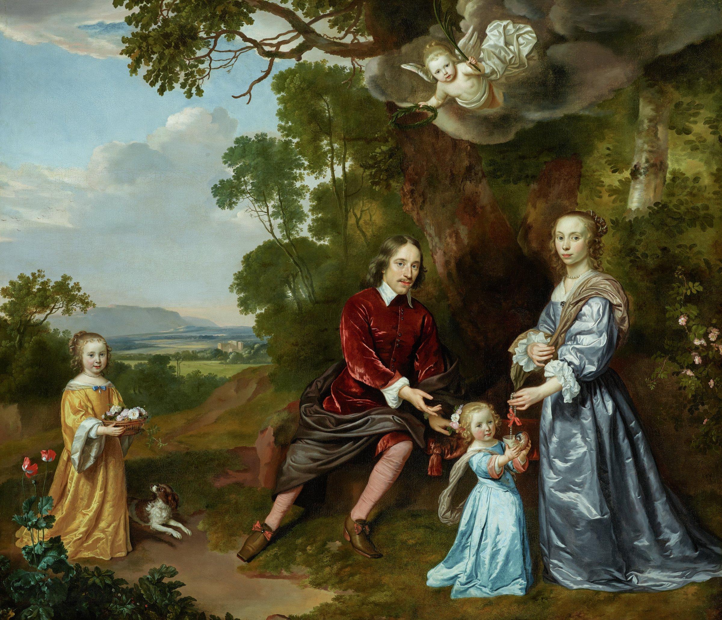 Portrait of the van der Graeff Family, Jan Mijtens, oil on canvas