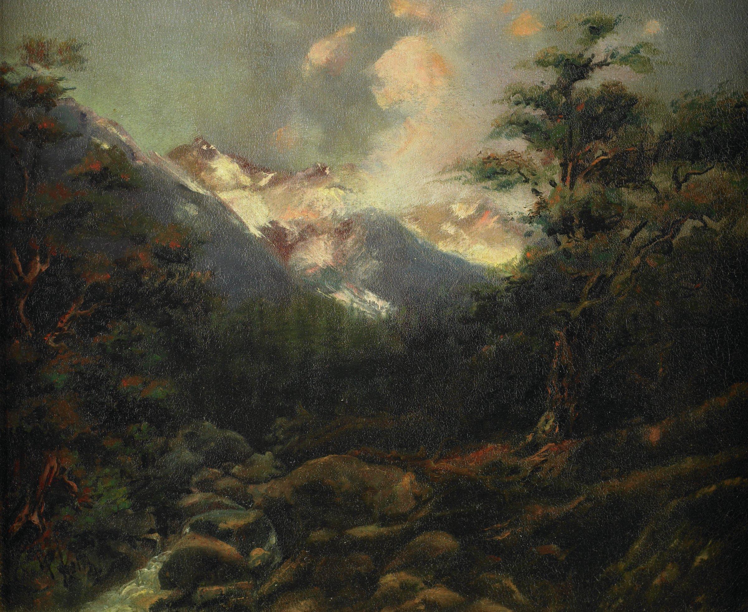 Sierra Storm, William Keith, oil on canvas