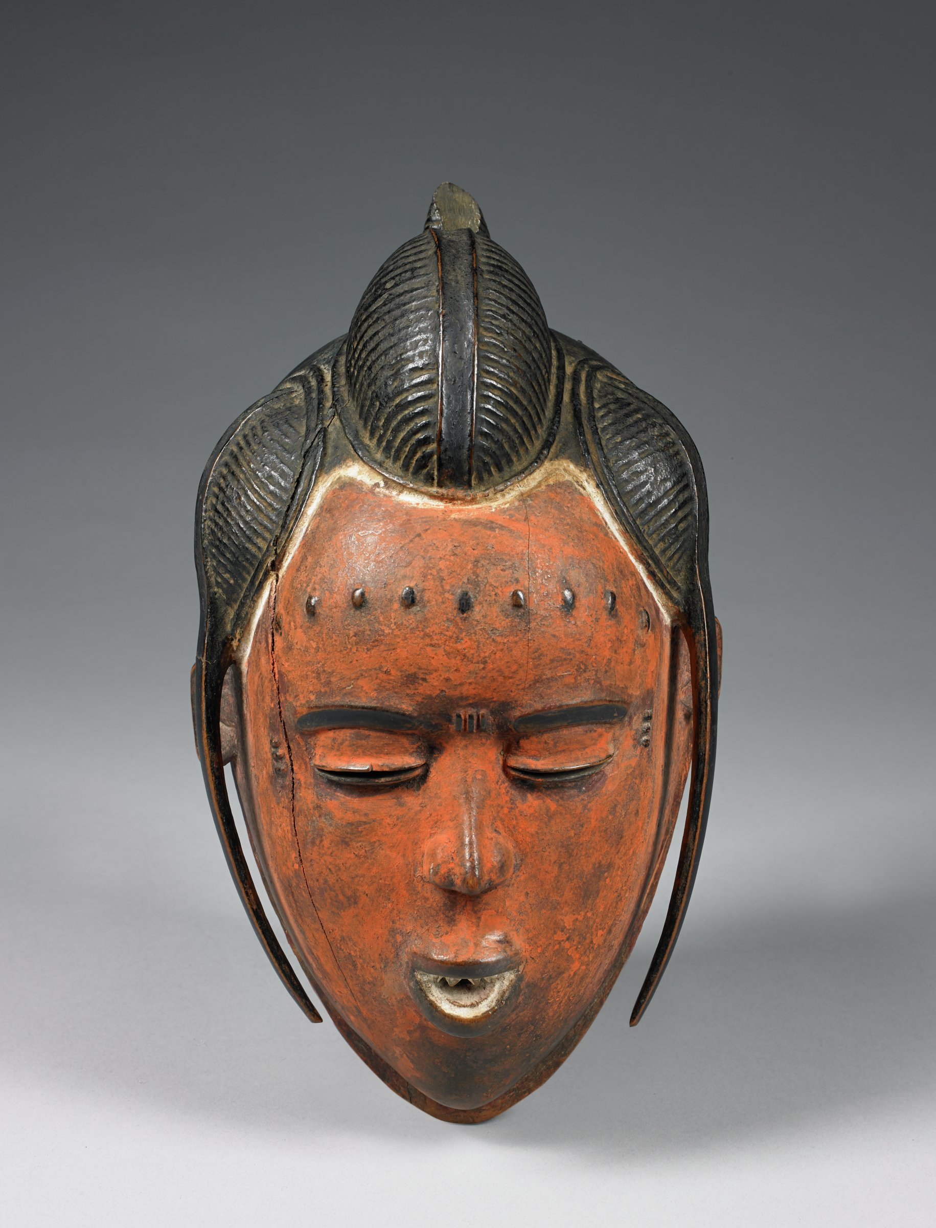 Mask, Guro people, Côte d'Ivoire, African, wood and pigment