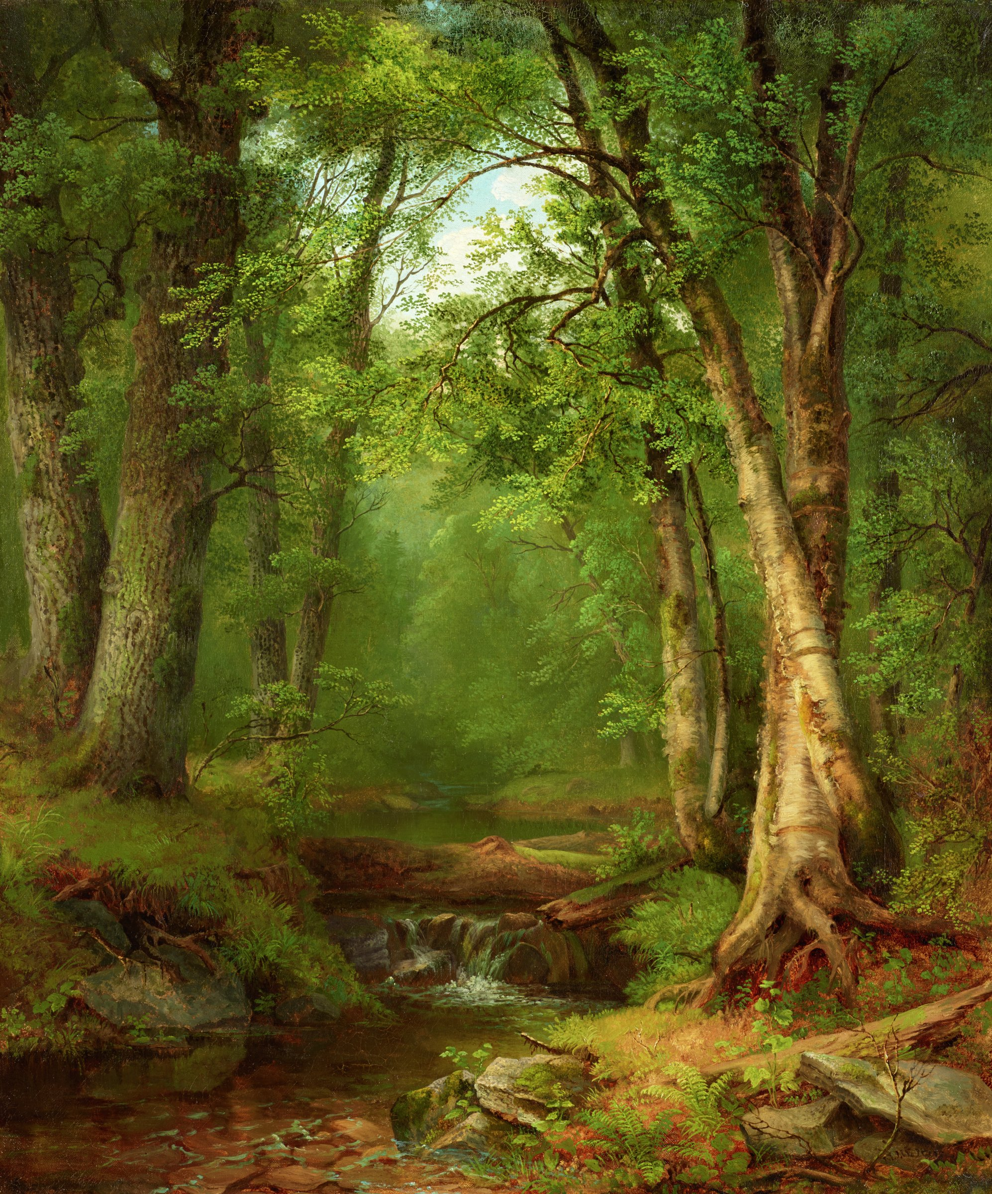 In the Woods, Mary Josephine Walters, oil on canvas