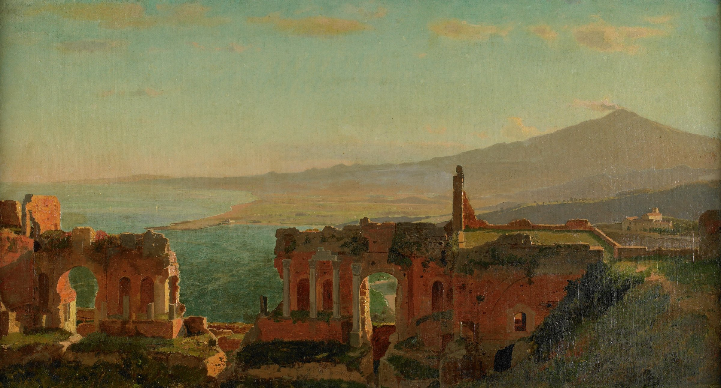 Mt. Aetna from Taormina, William Stanley Haseltine, oil on canvas