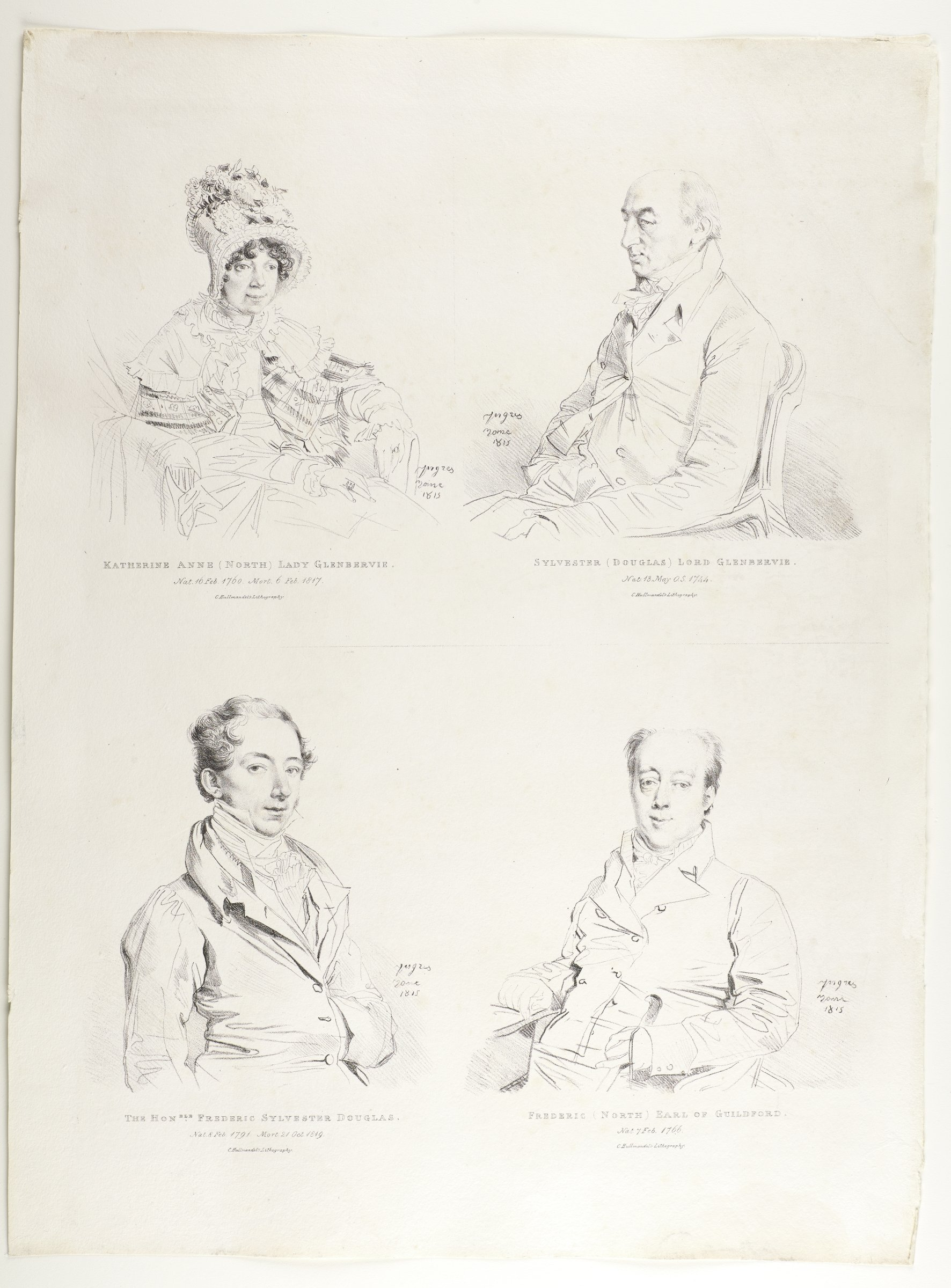 Study of four individual portraits containing heavily detailed faces with lesser detailed bodies.