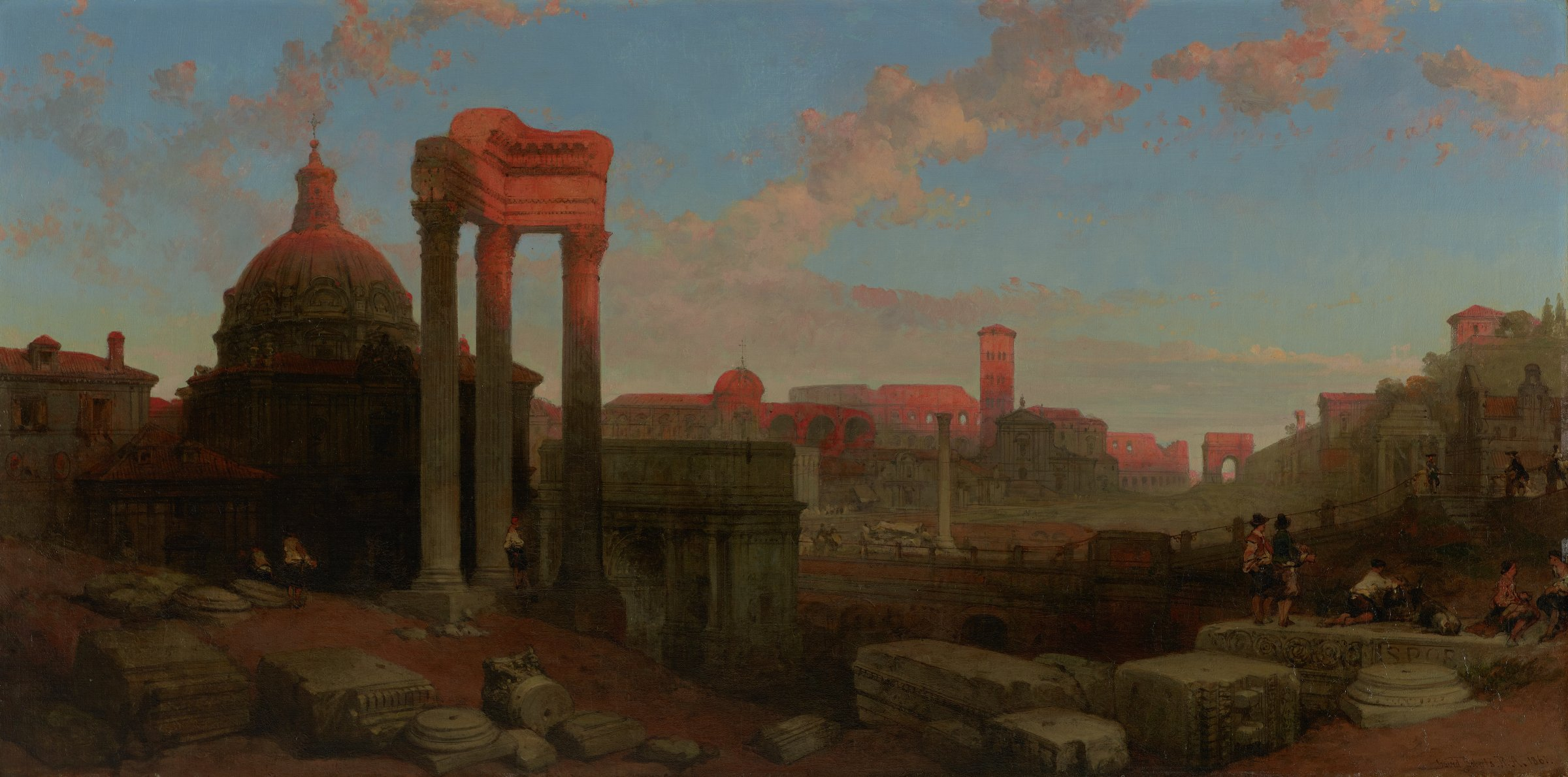 The Remains of the Roman Forum, David Roberts, oil on canvas