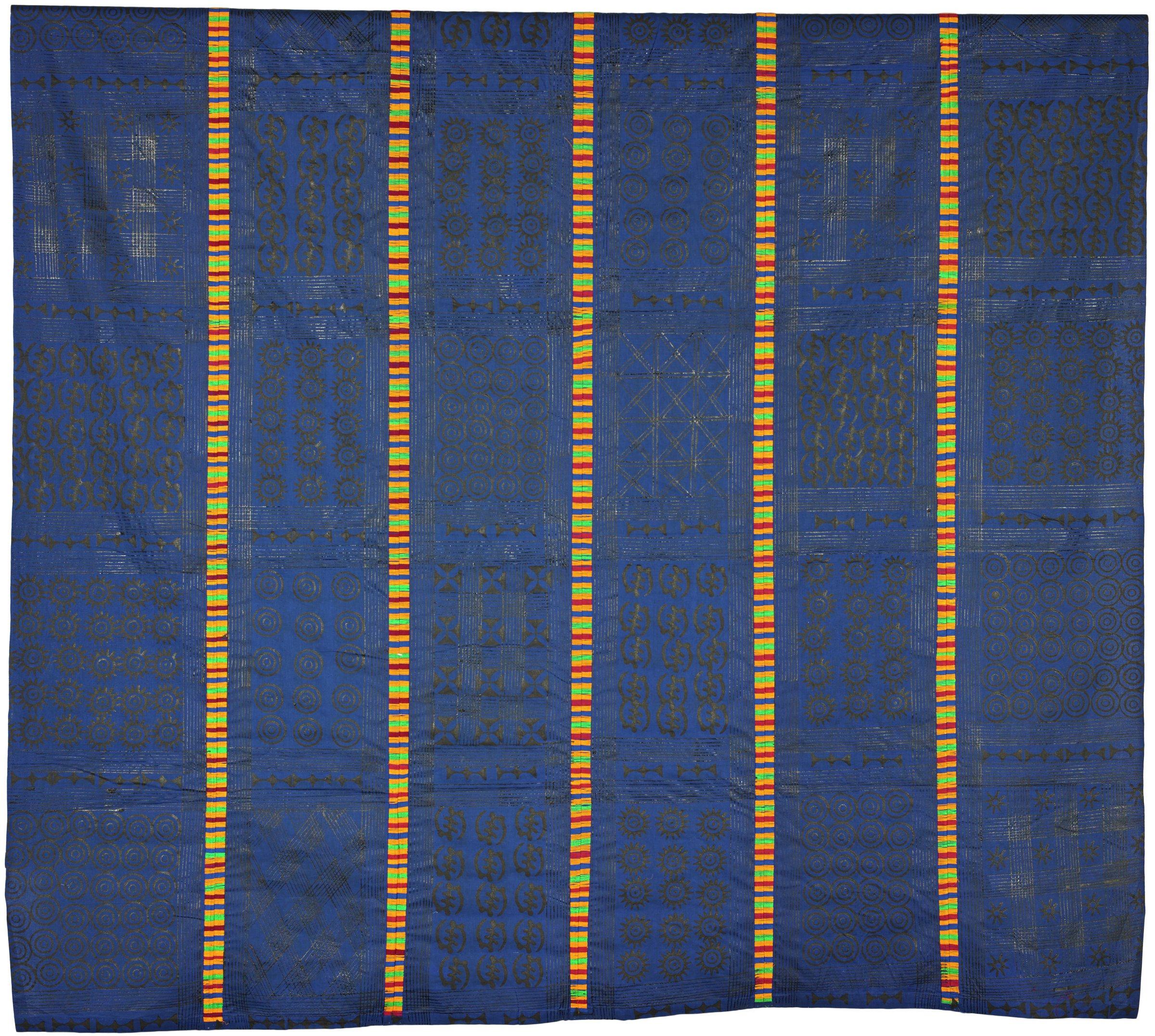 Wrapper (adinkra), Asante people, Ghana, African, cotton, homemade ink, embroidery