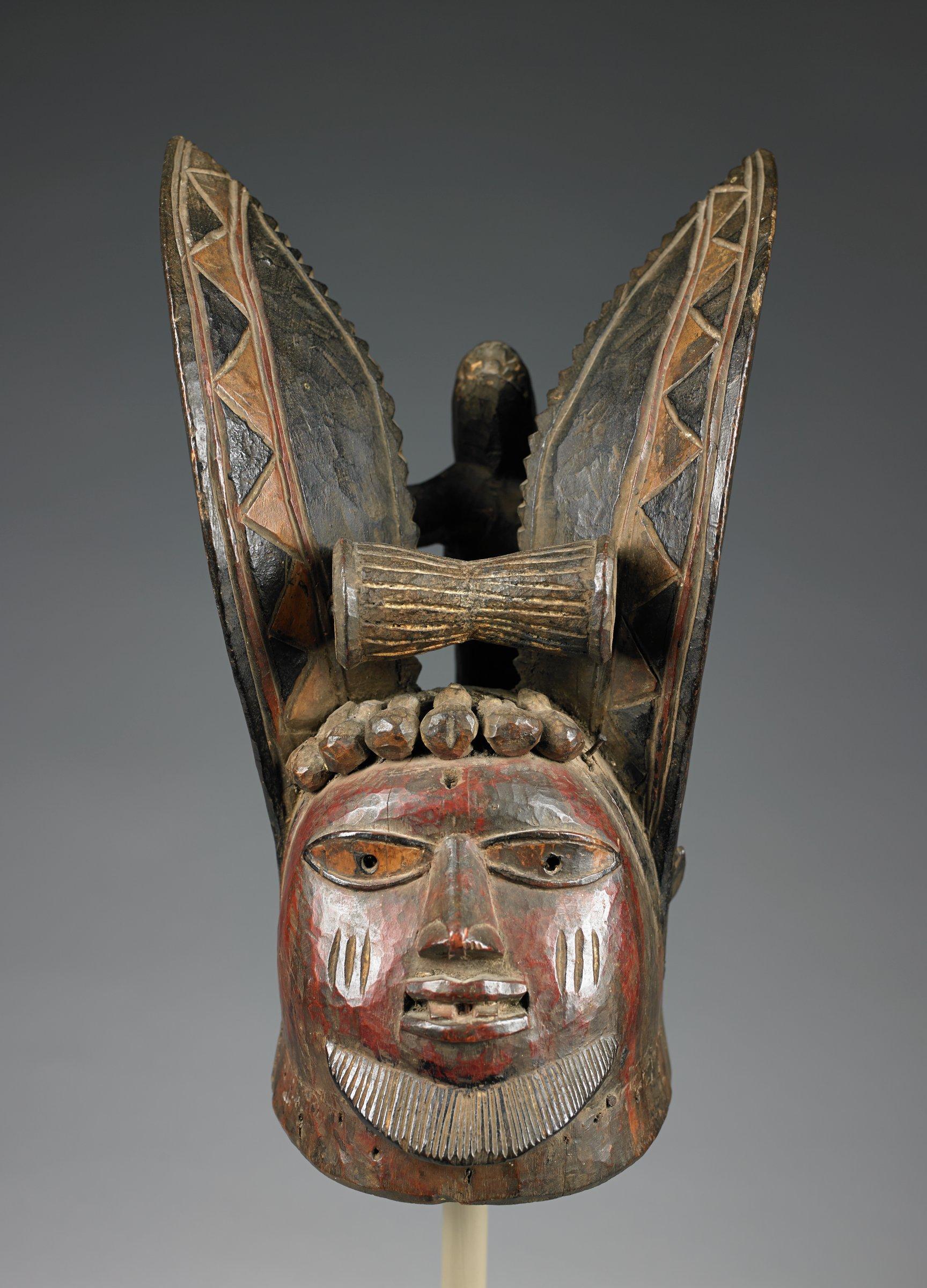 Egungun Headdress (Egungun erin), Yoruba people, Nigeria, African, wood and pigment