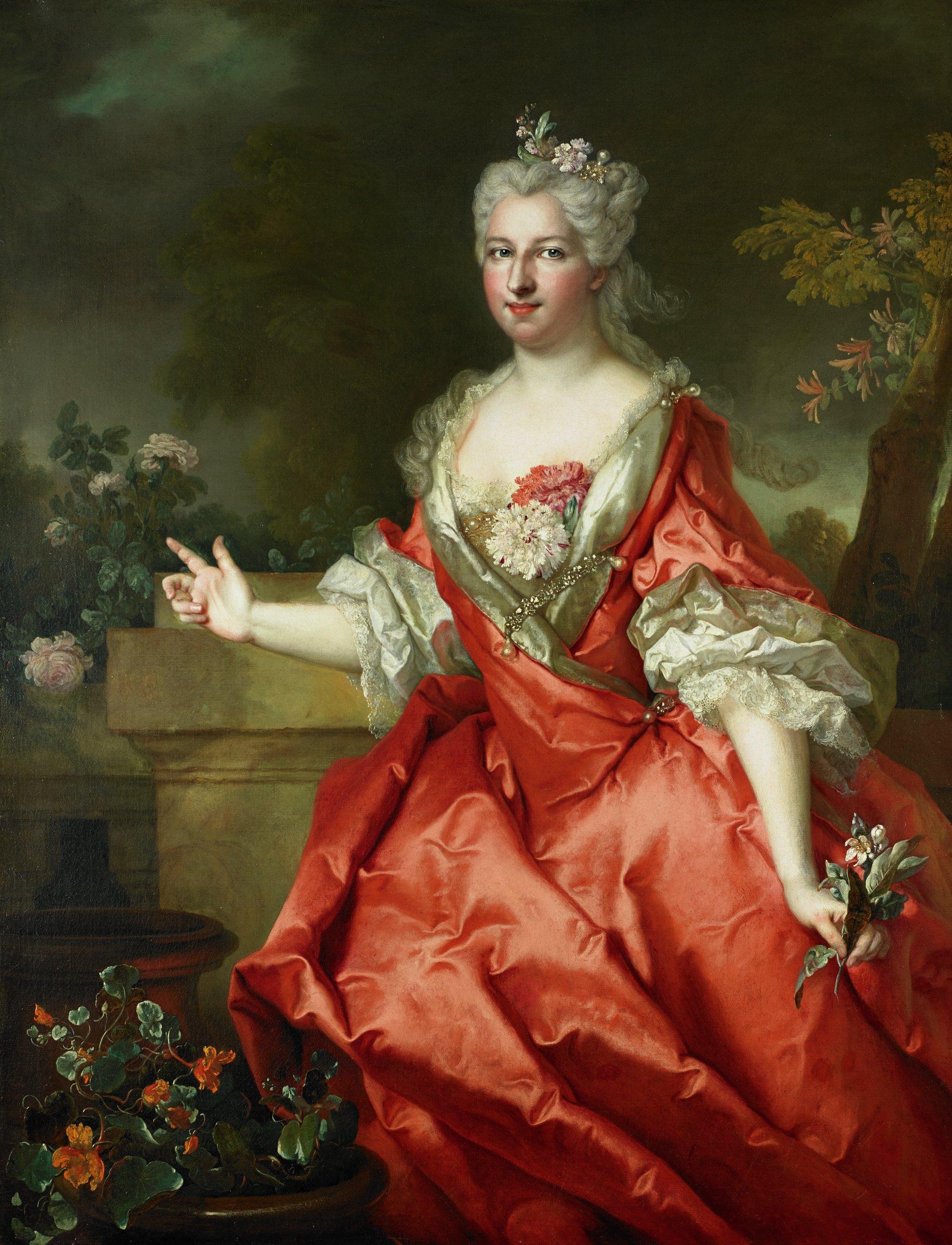 The Marquise de Fortia, Nicolas de Largillière, oil on canvas