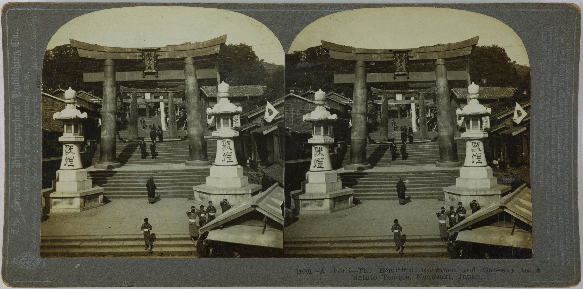 A Torii-The Beautiful Entrance and Gateway to a Shinto Temple, Nagasaki, Japan, The Fine Art Photographer's Publishing Co., gelatin silver prints mounted on card