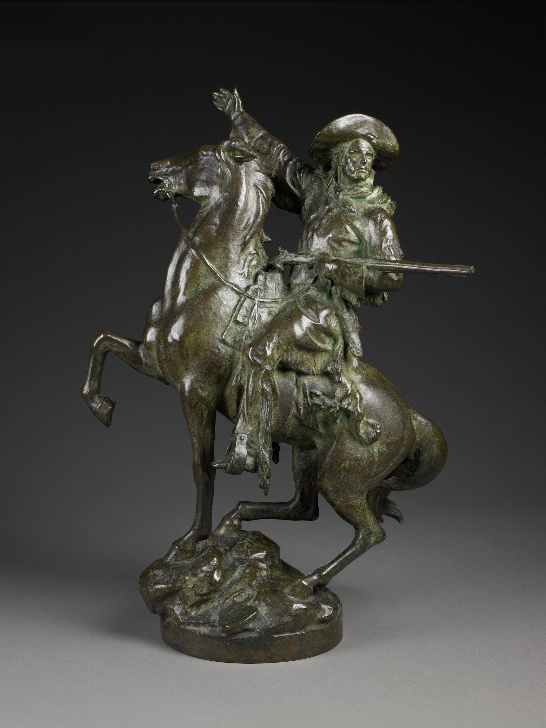 Kit Carson, Frederick William MacMonnies, Cast by Roman Bronze Works, bronze