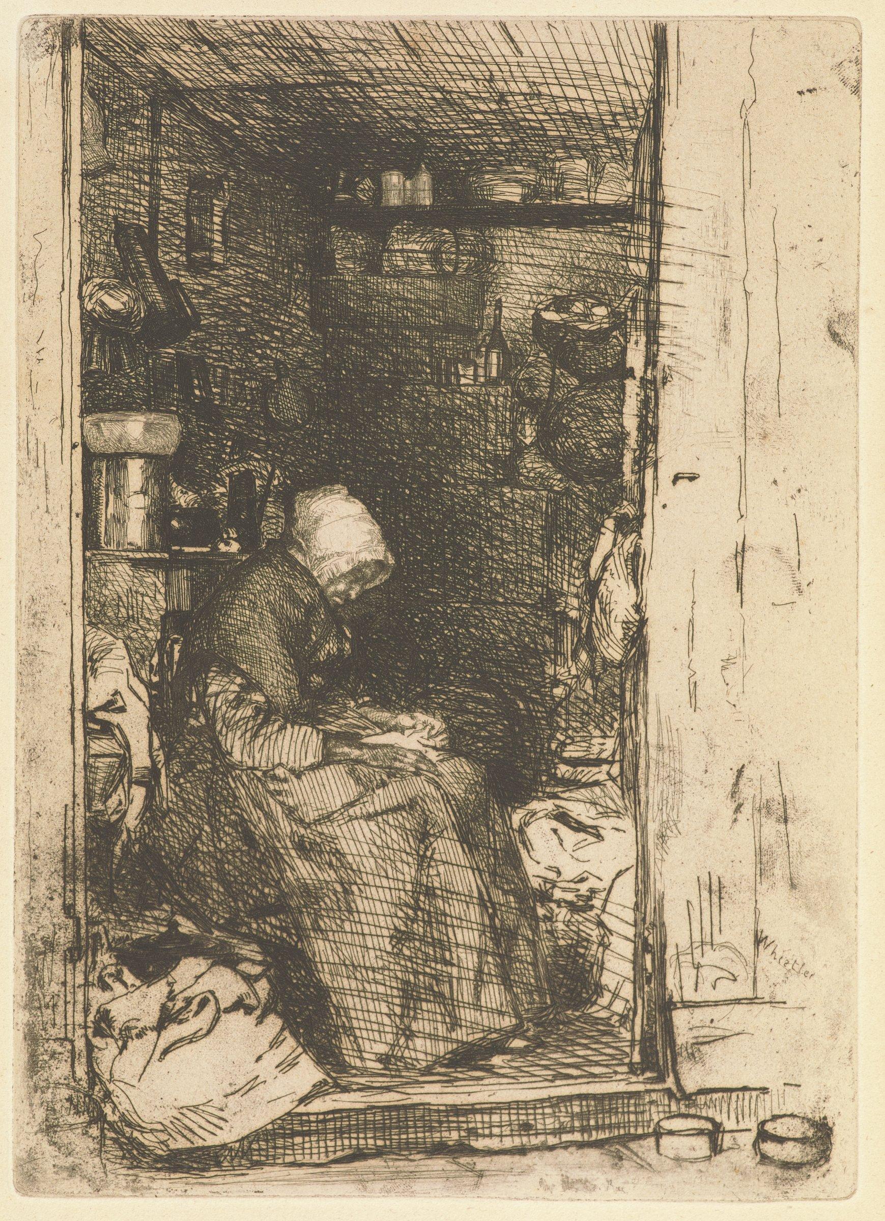 La Vieille aux Loques, James Abbott McNeill Whistler, etching