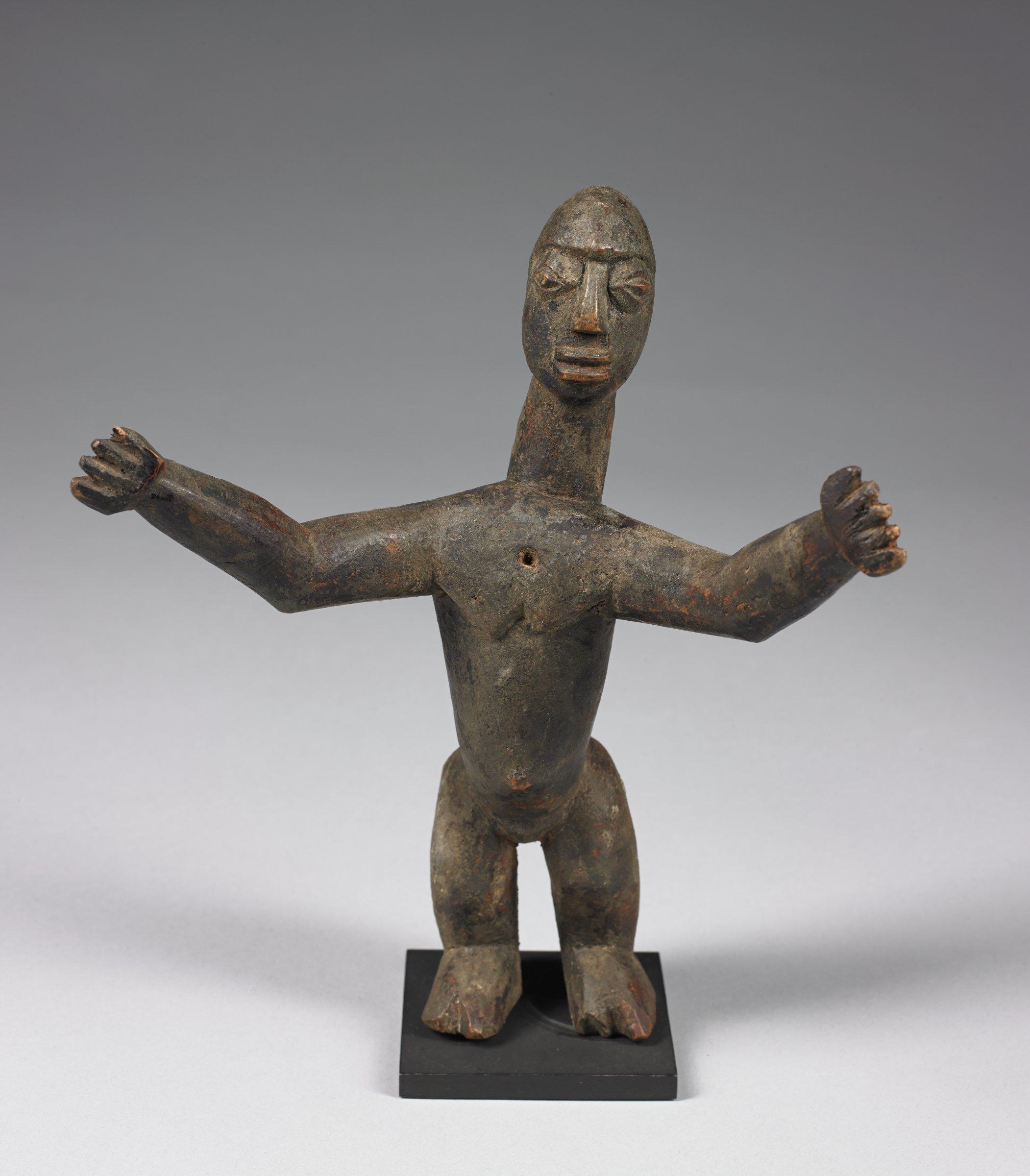 Female Figure, Lobi people, Burkina Faso, African, wood, encrustation
