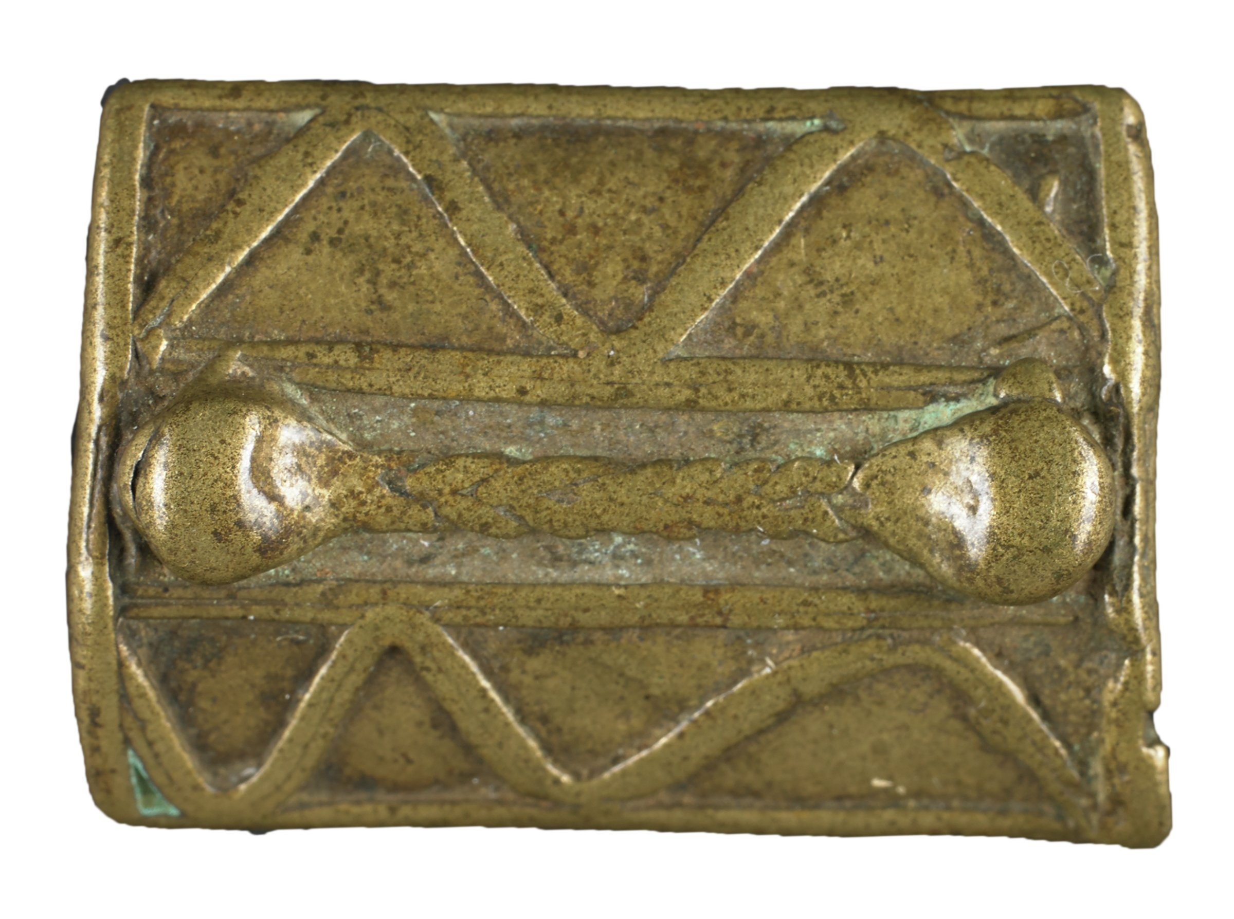 Gold Weight in the Form of a Shield, Asante people or, Baule people, Akan group, Ghana or, Côte d'Ivoire, African, brass