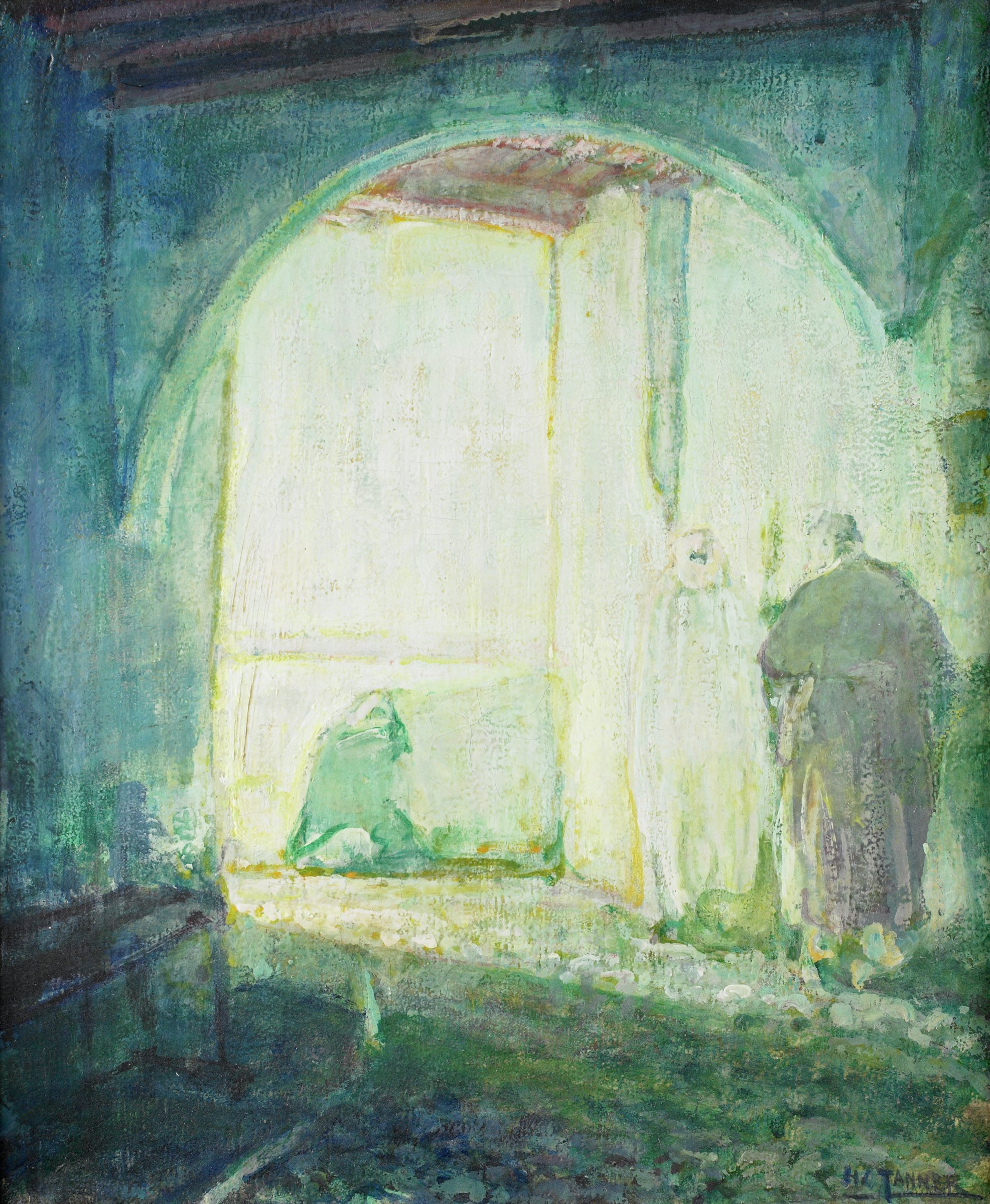 Moroccan Scene, Henry Ossawa Tanner, oil on canvas