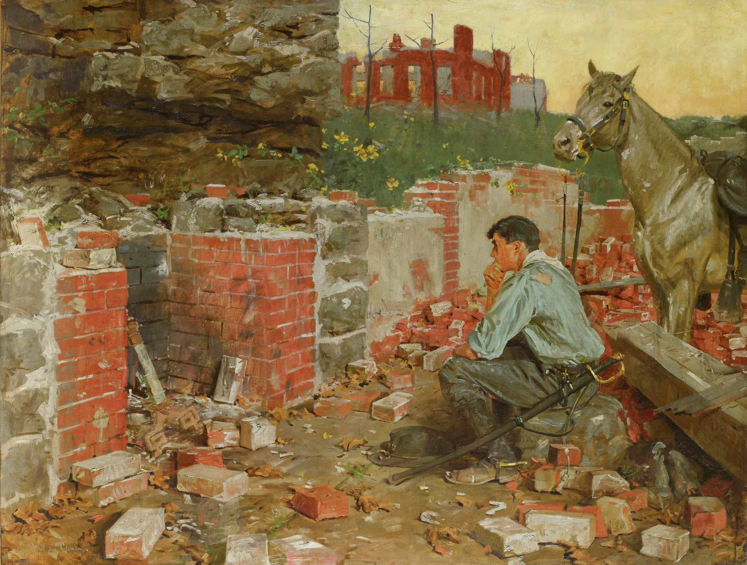 Return Home, William Gilbert Gaul, oil on canvas