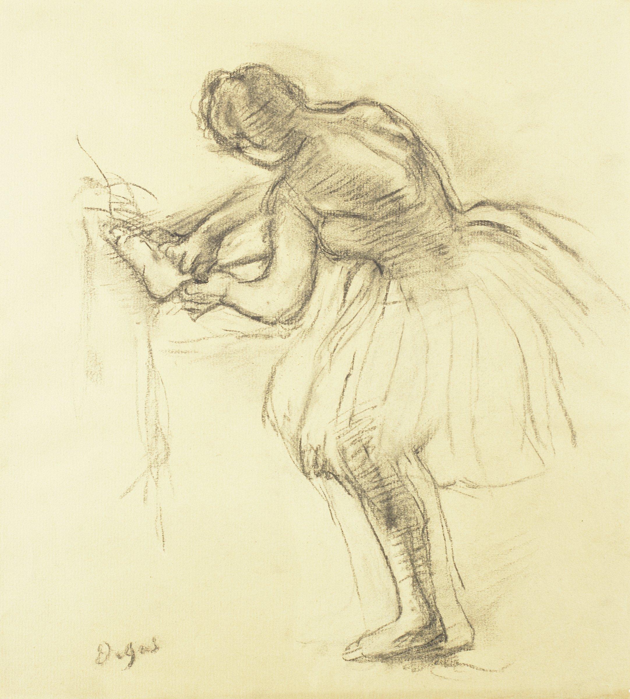 Balleteuse (Ballet Dancer), Edgar Degas, charcoal on laid paper