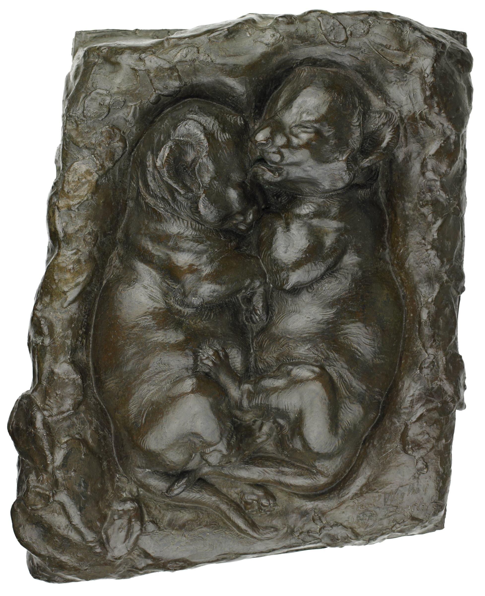 Lion Cubs, Paul Wayland Bartlett, bronze