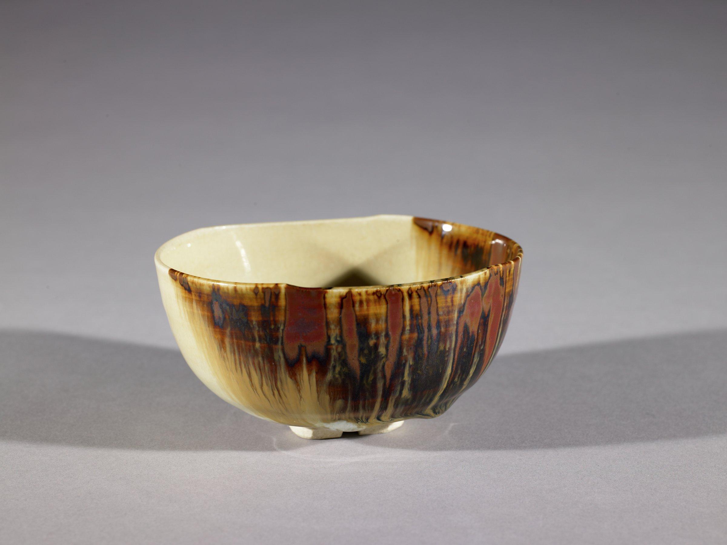 Tea Bowl, Zengoro Wazan, glazed stoneware, Kyoto ware