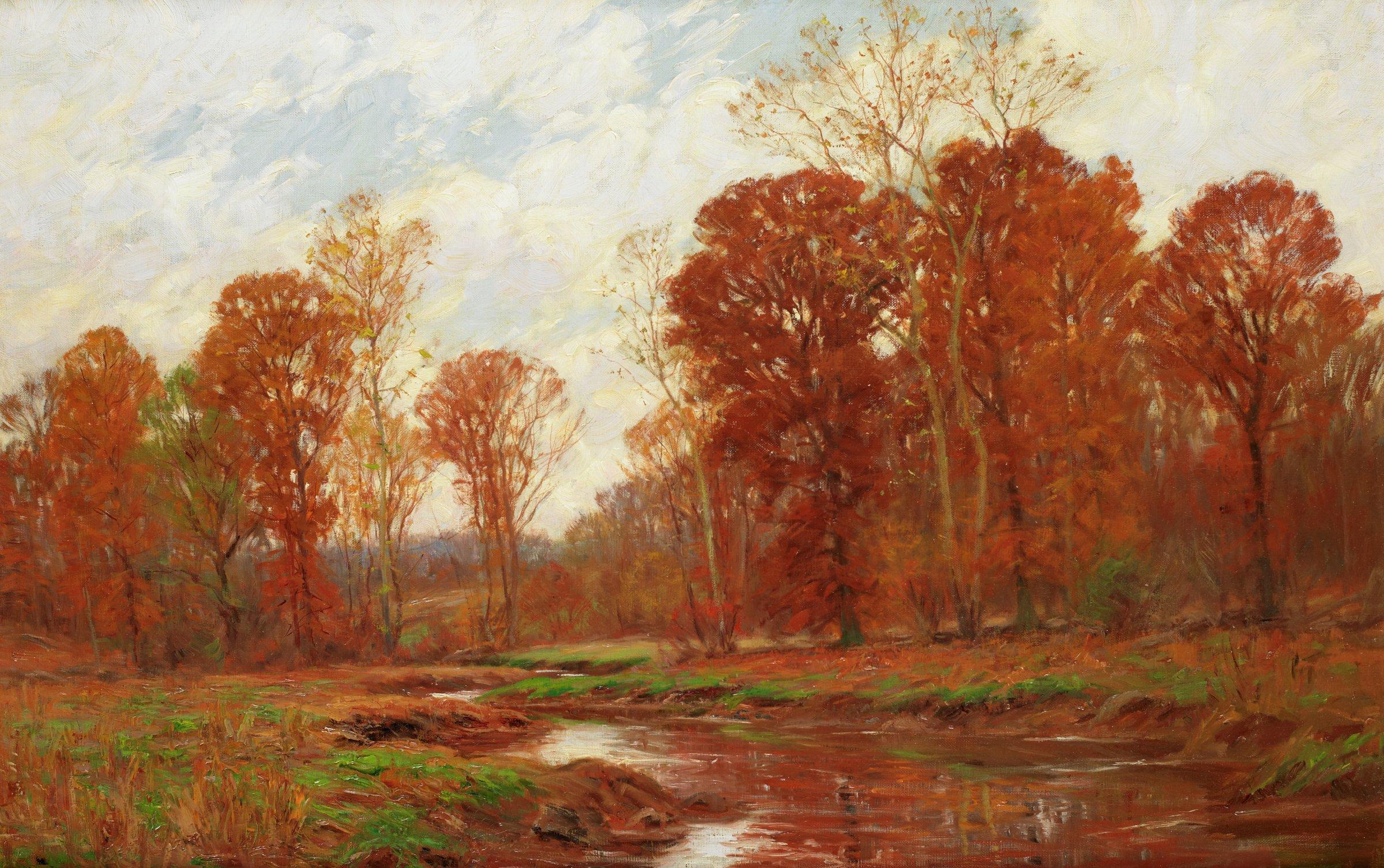 Autumn Landscape, William Merritt Post, oil on canvas