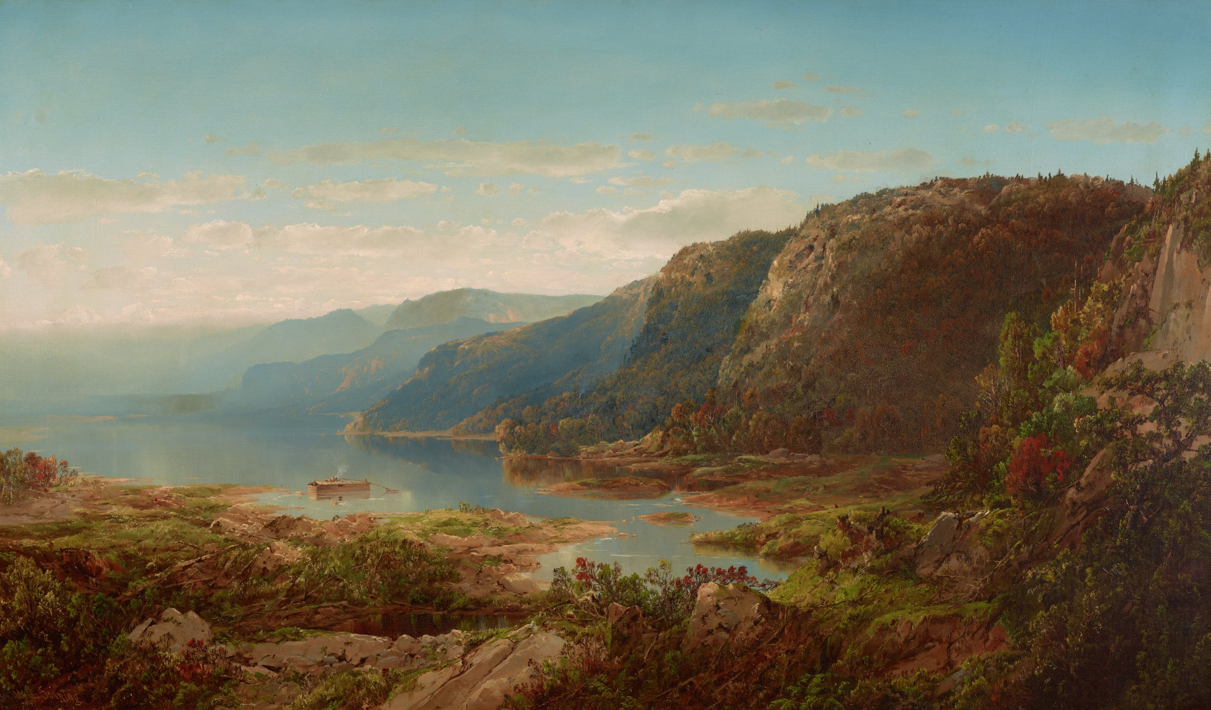On the Upper Hudson, William Louis Sonntag, Sr., oil on canvas