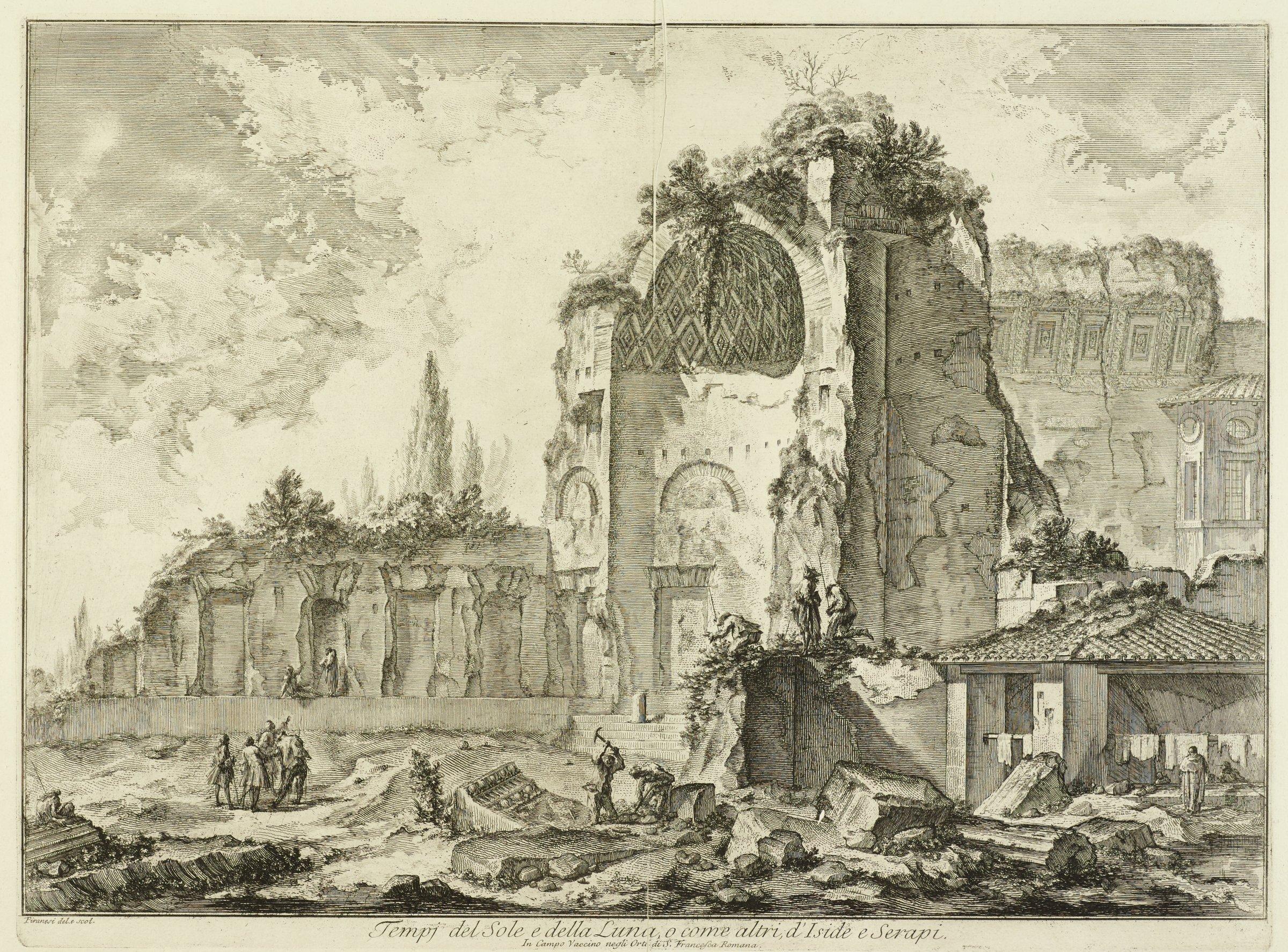 The Temple of Venus and Roma, Giovanni Battista Piranesi, etching
