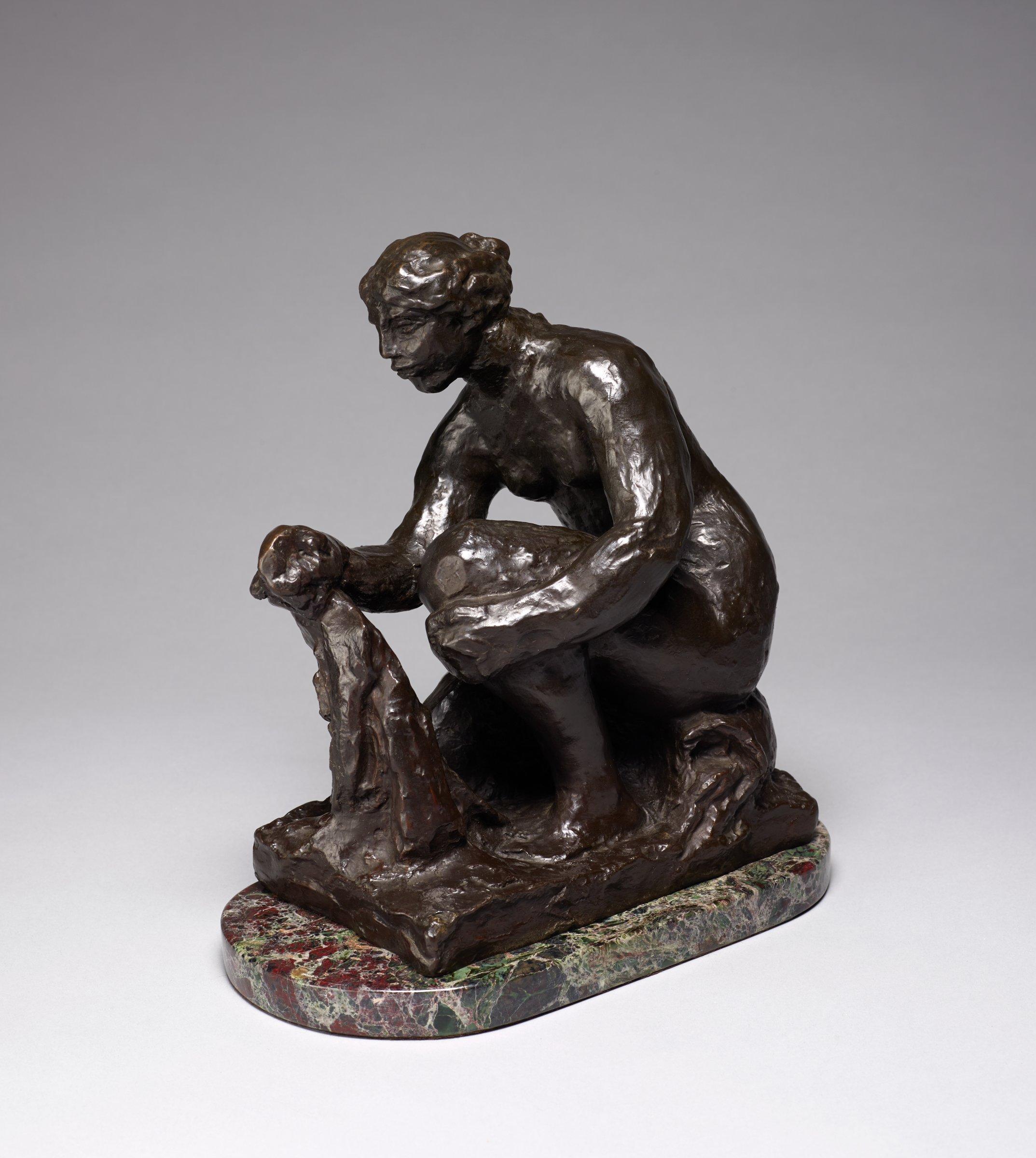 La petite laveuse (The Small Washerwoman), Pierre-Auguste Renoir, and Richard Guino, bronze
