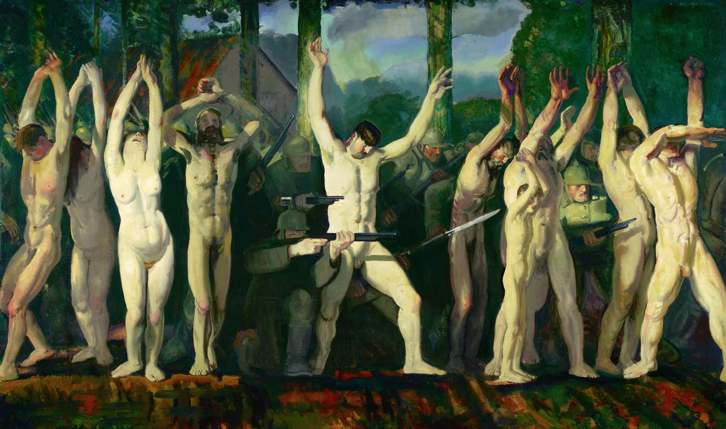 The Barricade, George Wesley Bellows, oil on canvas