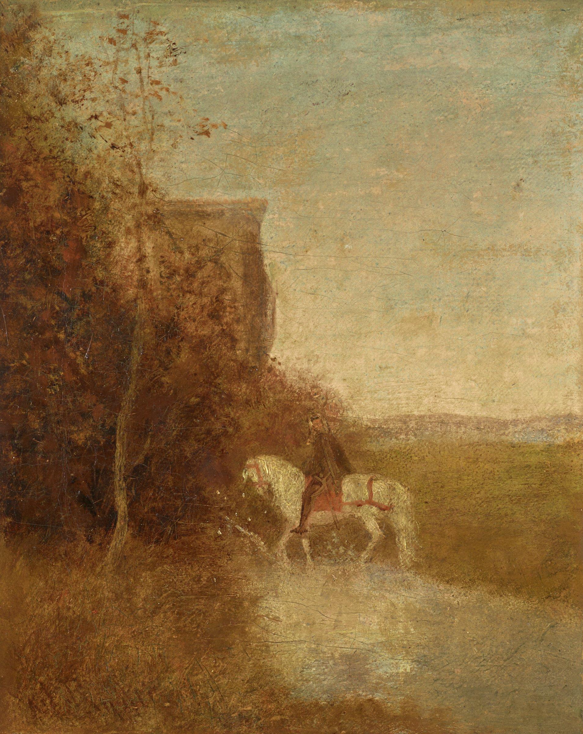 Childe Harold's Pilgrimage, Albert Pinkham Ryder, oil on canvas