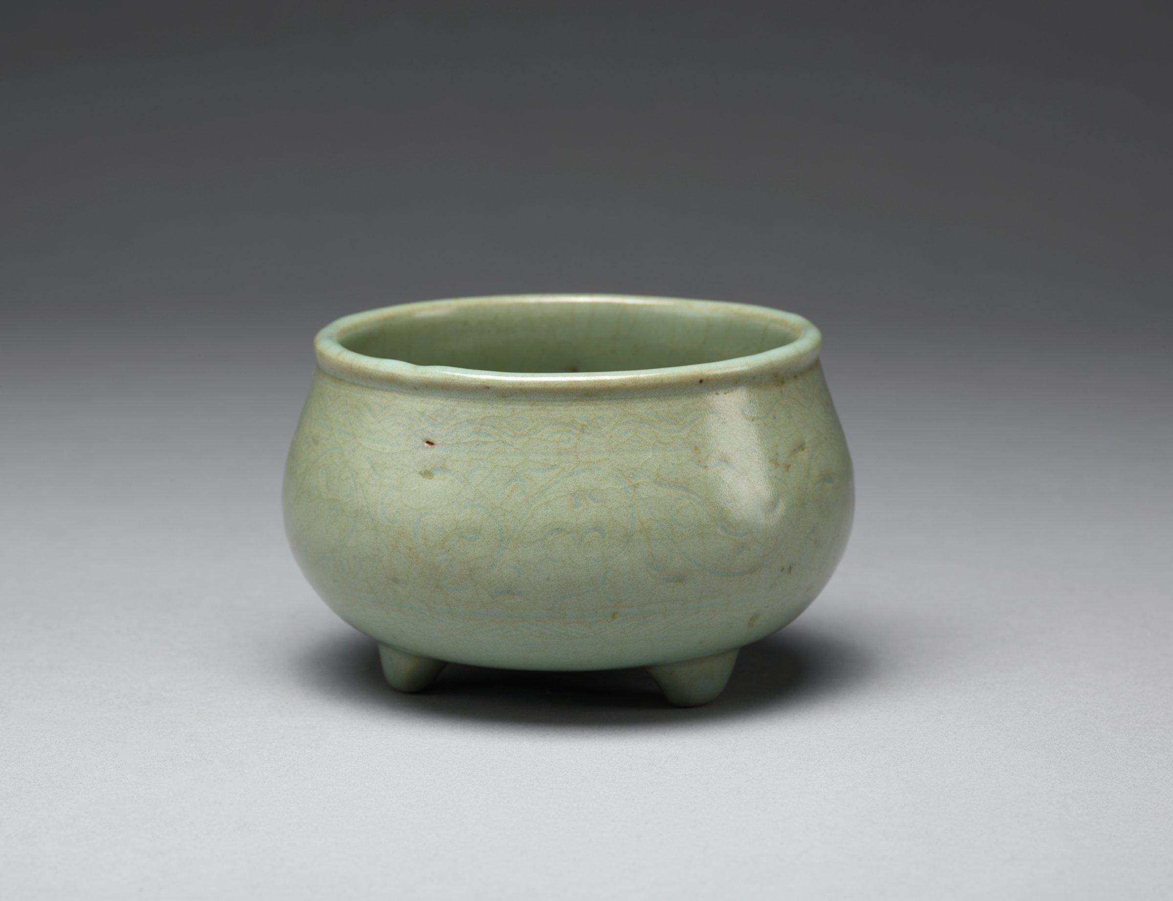 Tripod Censer, Korea, glazed stoneware