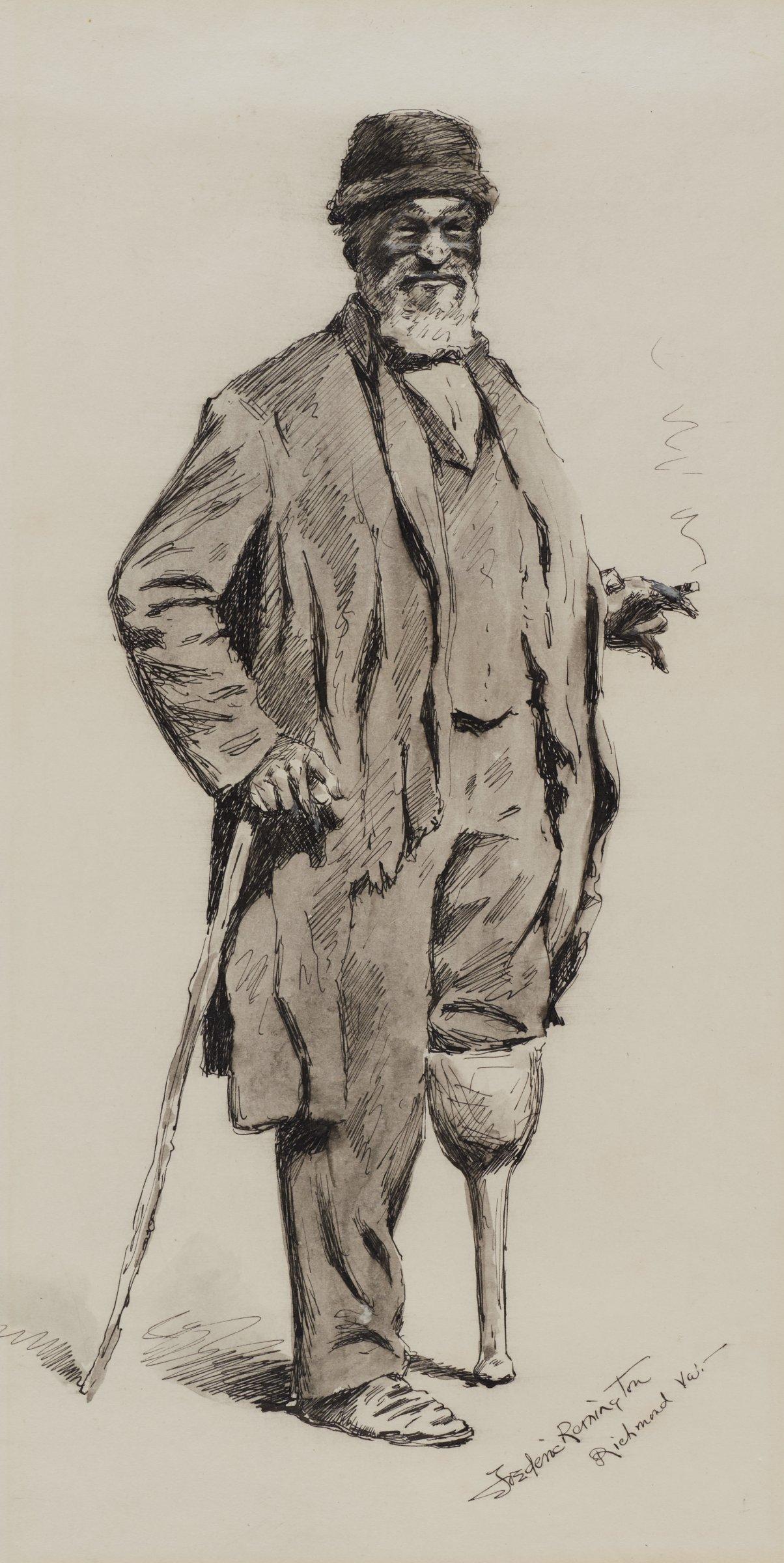 A Relic (Peg Leg), Frederic Remington, pen and black ink