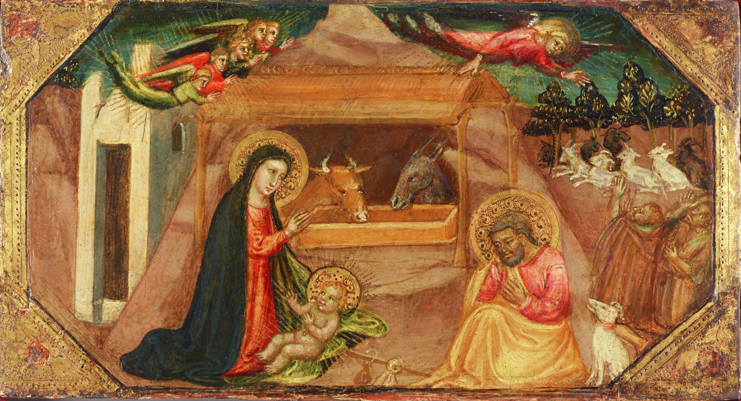 Nativity, Bicci di Lorenzo, tempera on panel