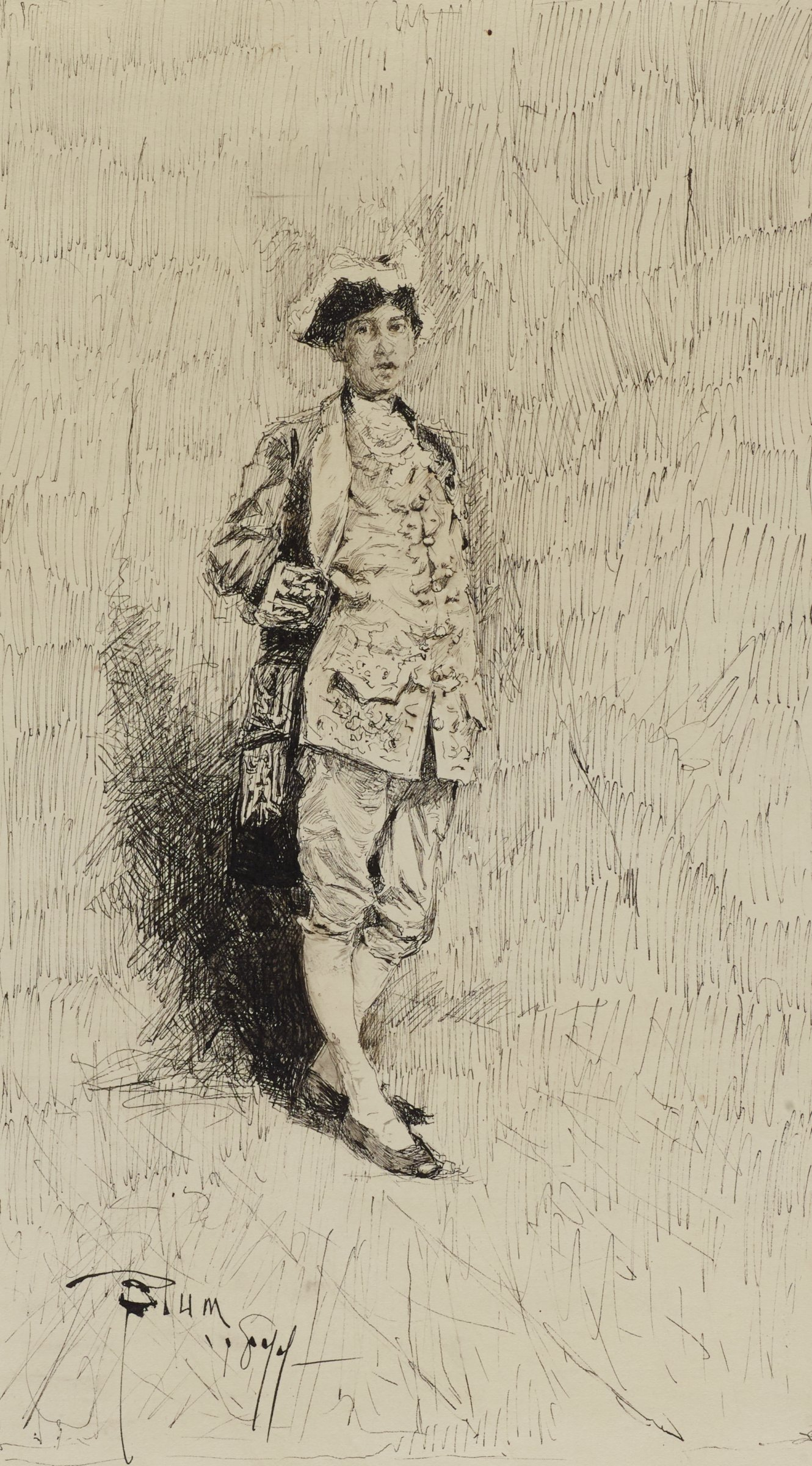 Mr. G. McLaughlin, Robert Frederick Blum, pen and ink on paper