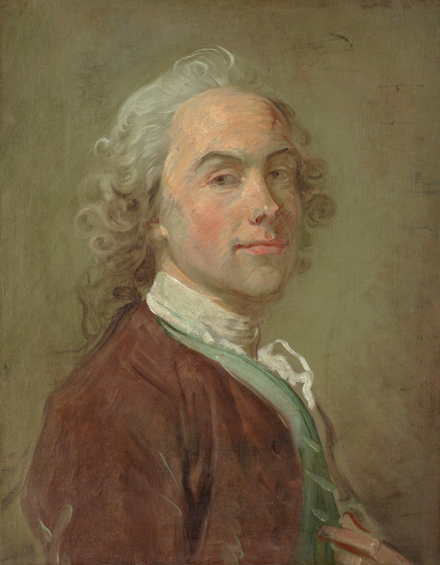 Portrait of a Gentleman (Self-Portrait?), Jean-Baptiste Perronneau, oil on canvas