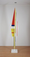 Rhomboid Column B, Ilya Bolotowsky, acrylic, wood