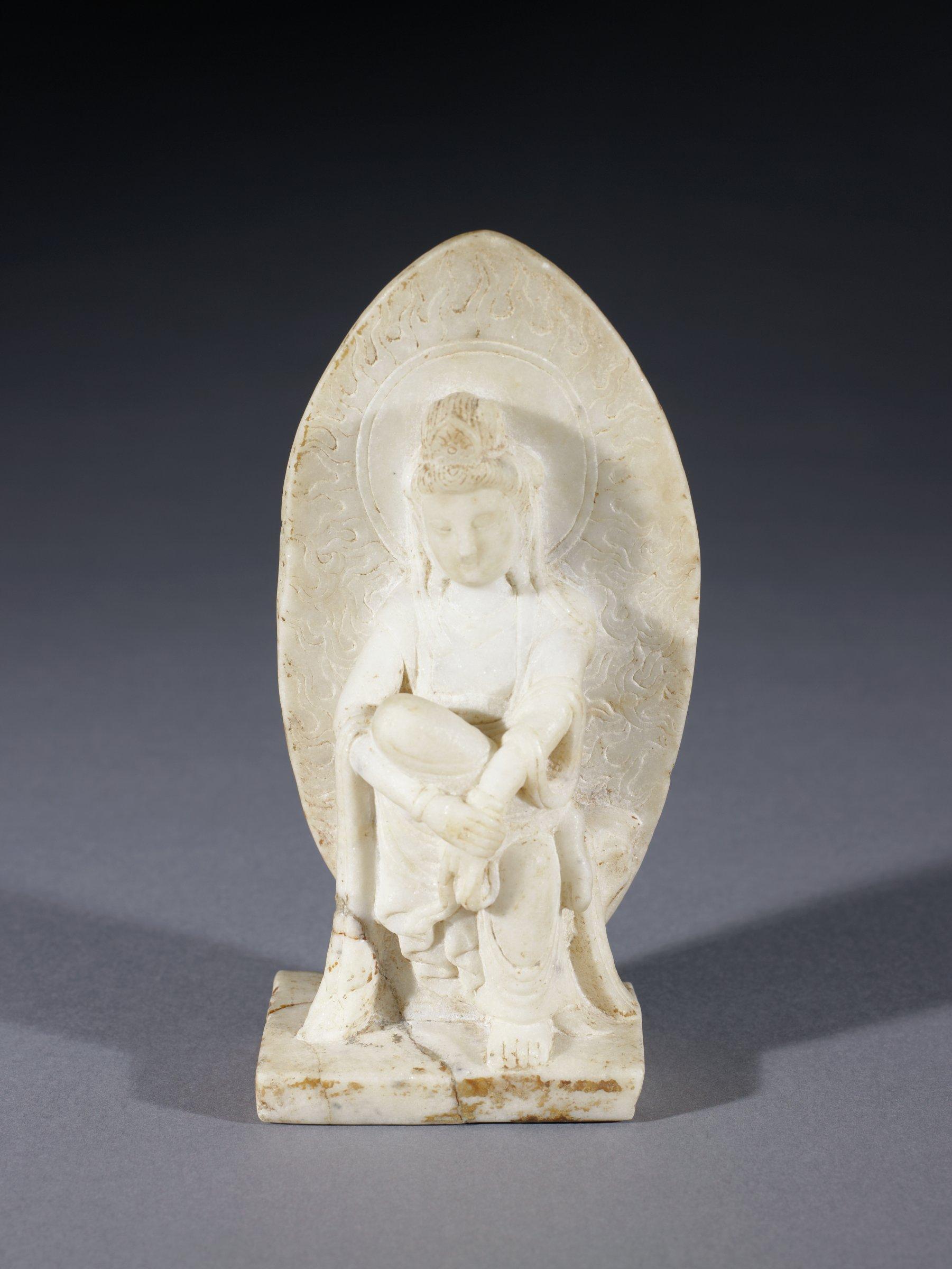 Pensive Bodhisattva, China, marble
