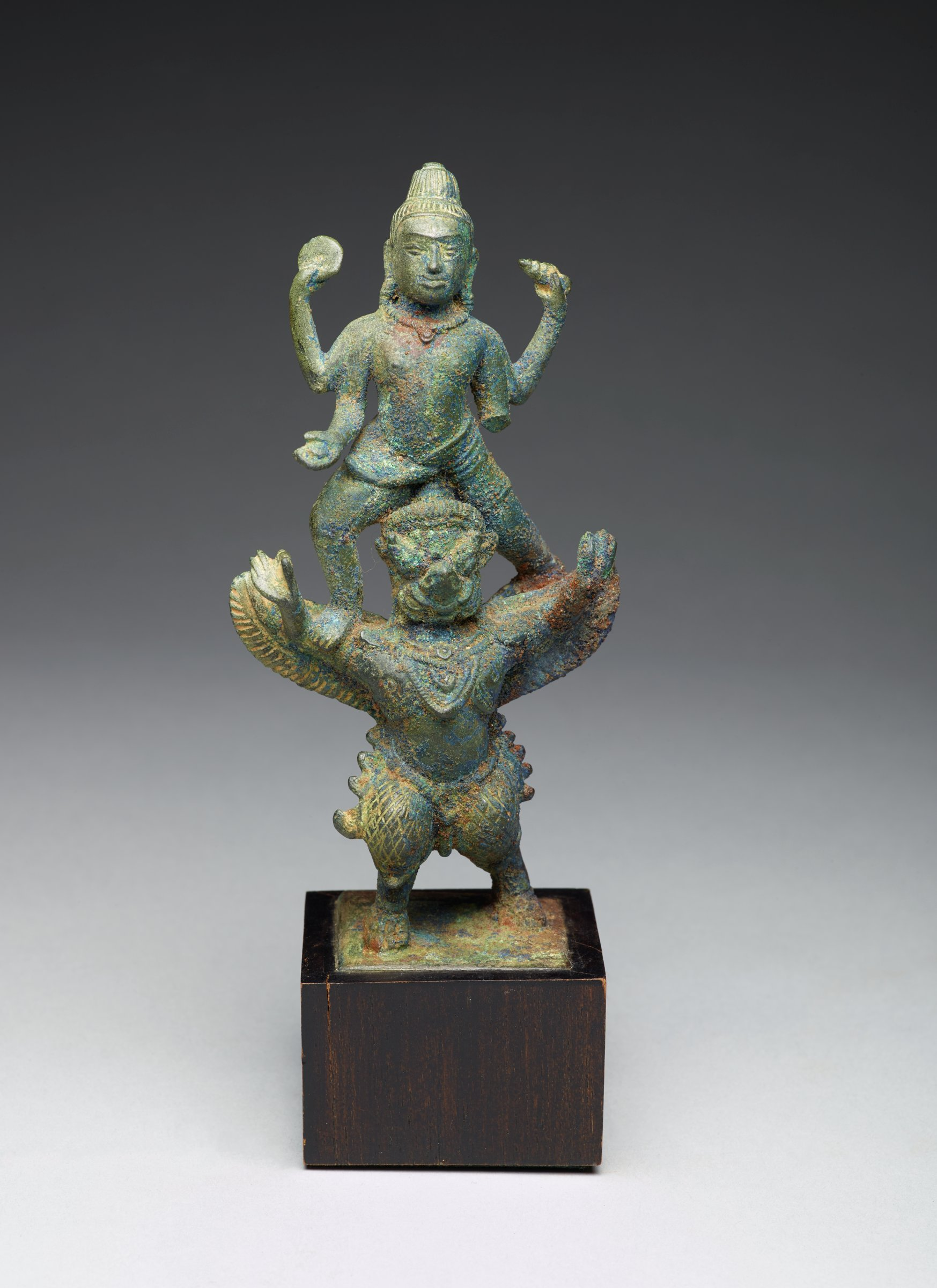 Vishnu and Garuda, Cambodia, Khmer, bronze