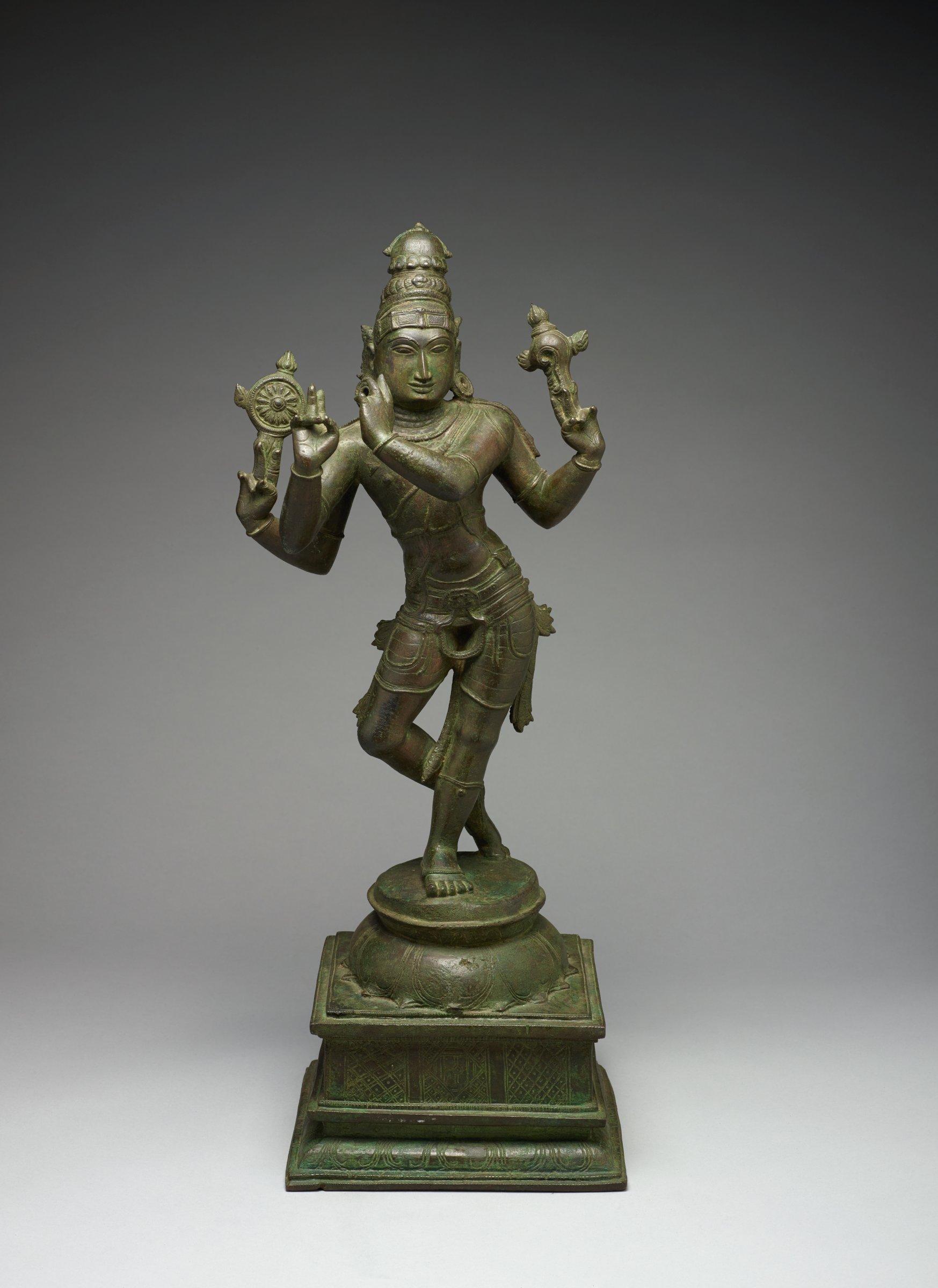 Hindu God Vishnu as Venugopala (Flute-Player), India, bronze